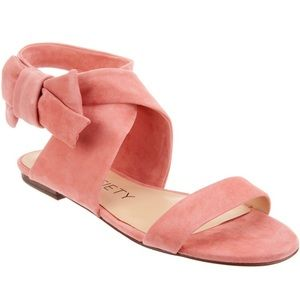SOLE Society Calynda Suede Bow Sandals